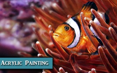 Photorealistic Clownfish Acrylic Painting Demo