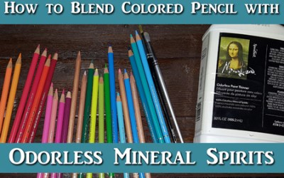 Intro to Blending Colored Pencil with OMS