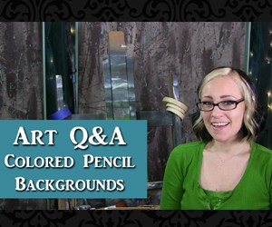 Art Q&A backgrounds for colored pencil