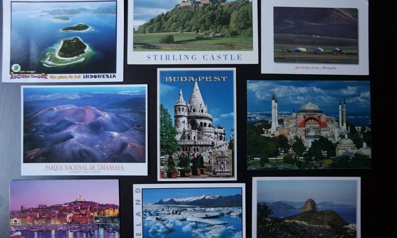 Postales de viaje del mundo