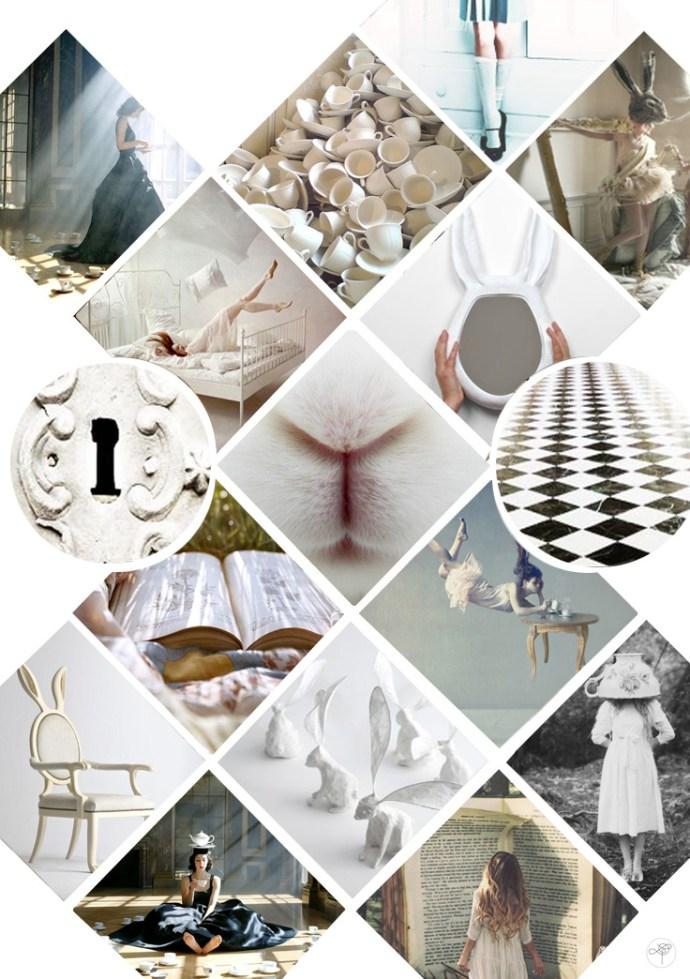 mood board alice in wonderland la d licate parenth sela d licate parenth se. Black Bedroom Furniture Sets. Home Design Ideas