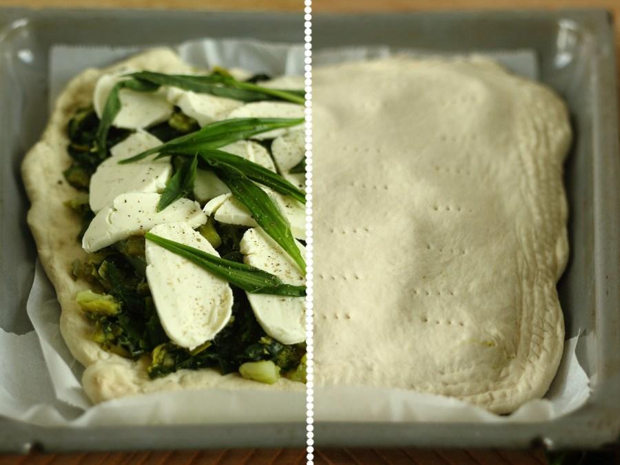 Schiacciata brocoli épinard