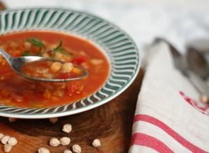 Soupe tomate pois chiche