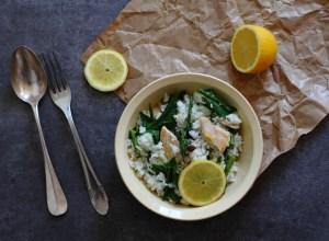 Salade poulet riz asperges