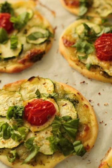 Pizettes aux courgettes