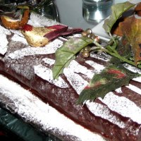 Flourless Chocolate Roulade - Buche de Noel Recipe
