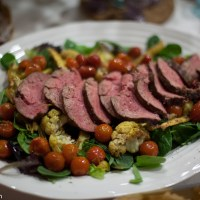 Filet Mignon and Roasted Root Vegetable Anniversary Salad Recipe
