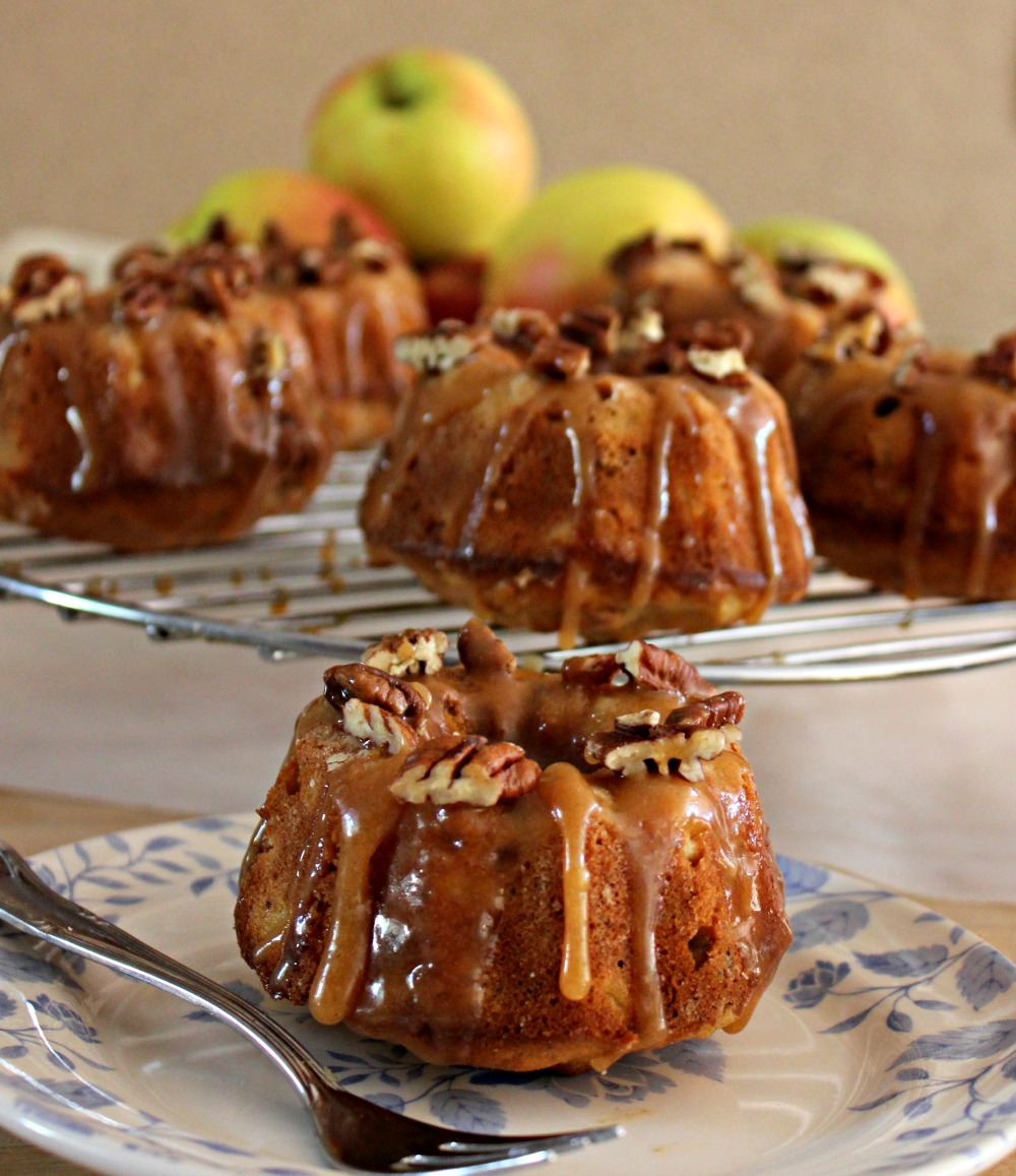 Apple Walnut Cake With Brown Sugar Glaze