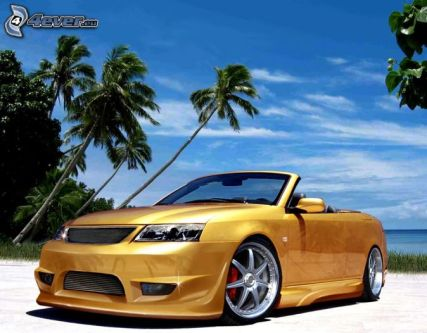 [pictures_4ever_eu]%20saab,%20car,%20tuning,%20palm%20trees,%20beach%20126592