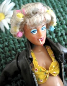 I asked my mother to do my Barbie's hair and when I came home she looked like this....