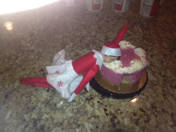 Apparently this Goopville elf binge-eats at night....