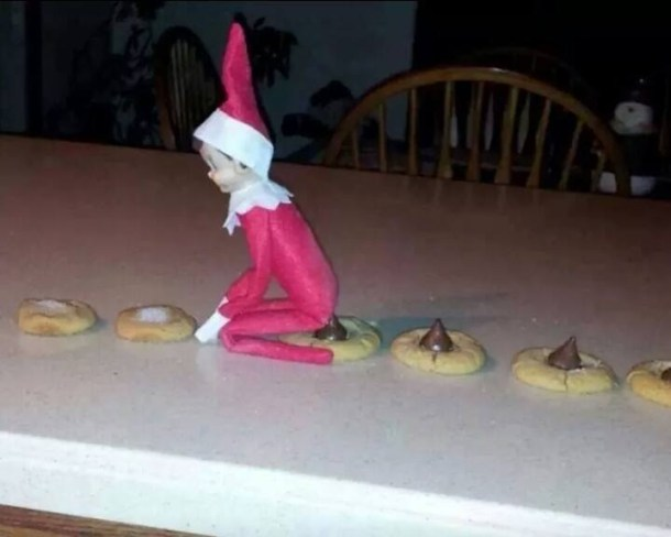 Apparently this elf takes huge shits on cookies....