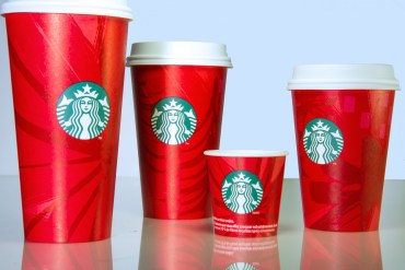 "Here's last year's cups.  They are nice but they don't exactly scream ""Merry Christmas."""