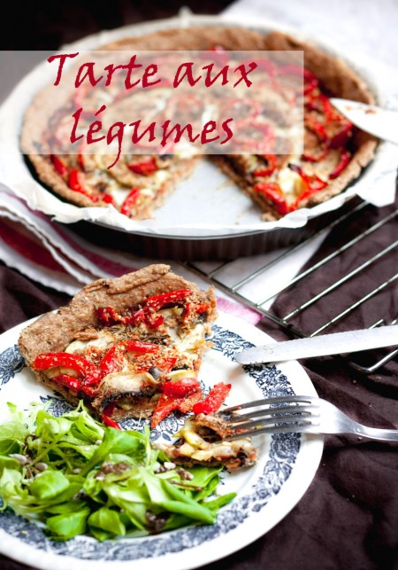 Tarte aux légumes {vegan, IG bas} | www.lafaimestproche.com
