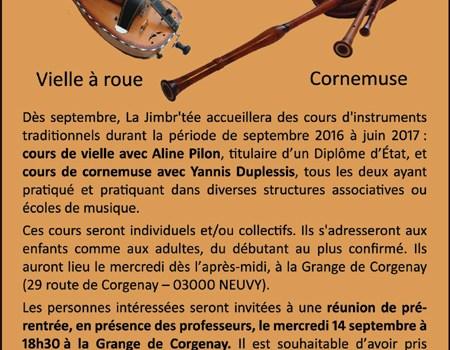 Nouveau ! Cours d'instruments traditionnels à La Jimbr'tée