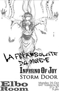 Sad to say but Inferno of Joy did not play this show with us.  There was some scheduling conflicts.  It still worked out with Thoabth playing (That's Andy from Sutek Hexen).  So it was harsh/industrial noise/ then experimental/soundscapy stuff, then US! Good times