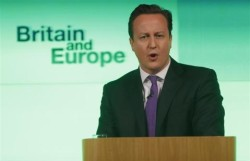 Cameron promete un referéndum sobre la integración británica en la UE
