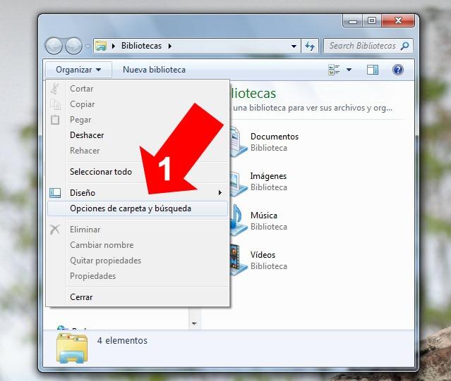 Ver directorios ocultos en Windows 7