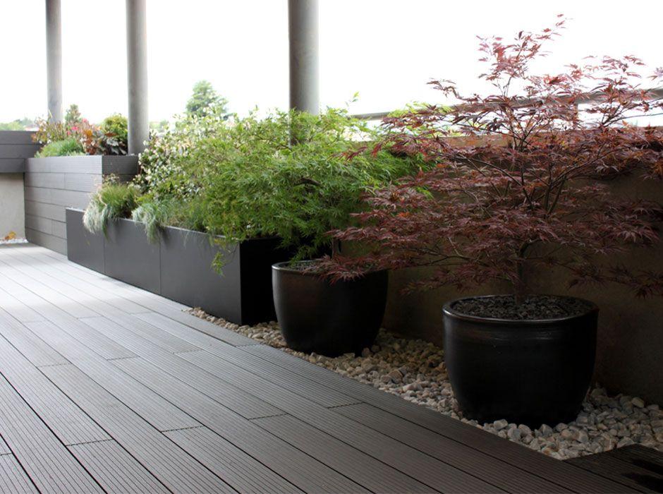 Jard n de dise o para la terraza de un tico en madrid for Jardines en terrazas