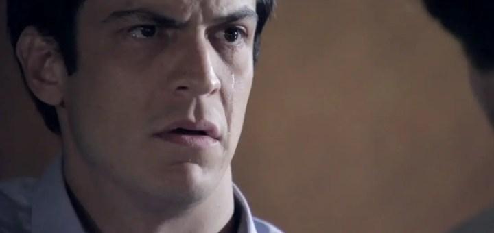 Lágrimas de villano, cuando el castigo llega antes del final. Félix en Rastros de Mentiras. Rastros-de-mentiras-felix-llorando