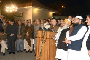 opposition parties leaders addressing joint press conference
