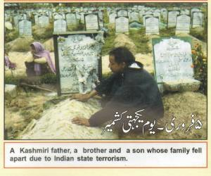 A man is sitting with the grave of his brother