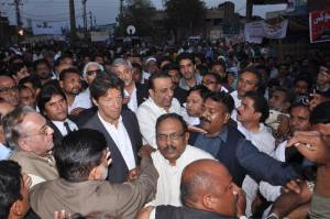 imran khan visiting Joesph colony
