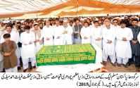 Ch Shujat Hussain attends funeral prayers of former MNA Ghias Ahmad Mela