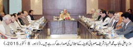 Shahbaz Sharif presides over a meeting of provincial cabinet