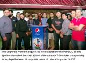 Jahan Zaib Qayum Khan unveils the PEPSICO championship trophy