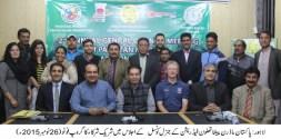 Riaz Fatiana chairs the meeting of Pakistan Modern Pentathlon Federation
