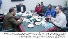 A delegation of UNICEF calls on Punjab Minister for Housing Malik Tanvir Aslam