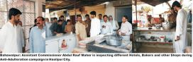 A crackdown is launched against the offenders of pure food ordinance
