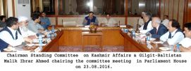 Standing Committee on Kashmir Affairs and Gilgit Baltistan briefed by AJK officials