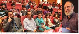 Dr Khalid Zaheer sheds light on 'Peace and Extremism in the Light of Islam'