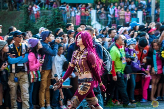 grand float parade cosplayer