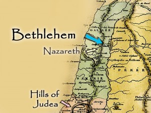 map showing bethlehem