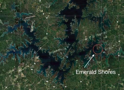 Emerald Shores Sat Map
