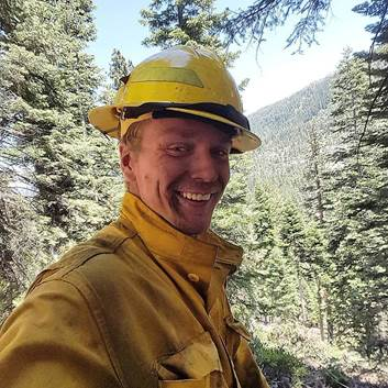 """Procession To Honor Fallen Forest Service Firefighter """"Mikey"""" Hallenbeck"""