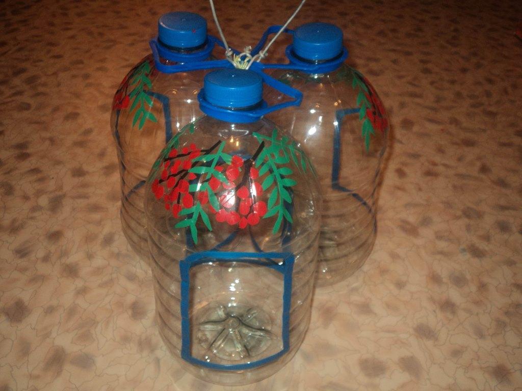 Делаем кормушки для птиц своими руками из бутылки
