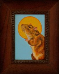 Oil on Paper, 4 x 6 in. (plus frame) $250.00 Sold