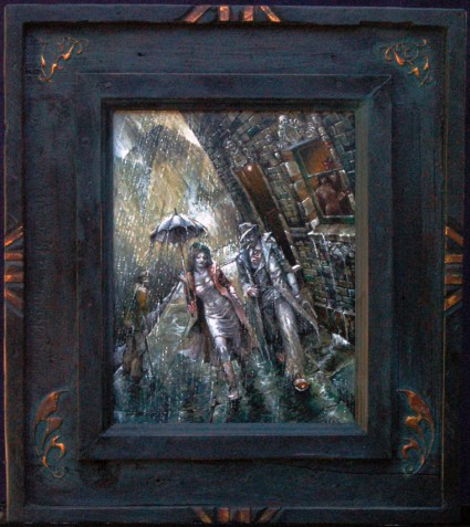 Oil on masonite in frame constructed by the artist, 9 x 12 in. (16 x 18 in. with frame), $425.00 Sold