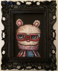 Edward Robin Coronel - Hugsy BearAcrylic on canvas, 5 x 7 in. (8 x 10 x 2 in. framed) $275 Sold
