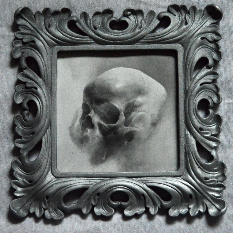 "Adrian Cherry - WordlessGraphite on bristol paper, 5x5"" (7.5x7.5"" framed) $175"