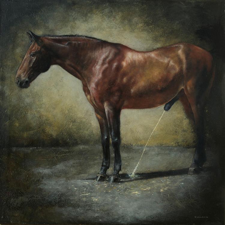 """Mark Gleason - Bay Oil on canvas, 30x30"""" framed, $5,000"""