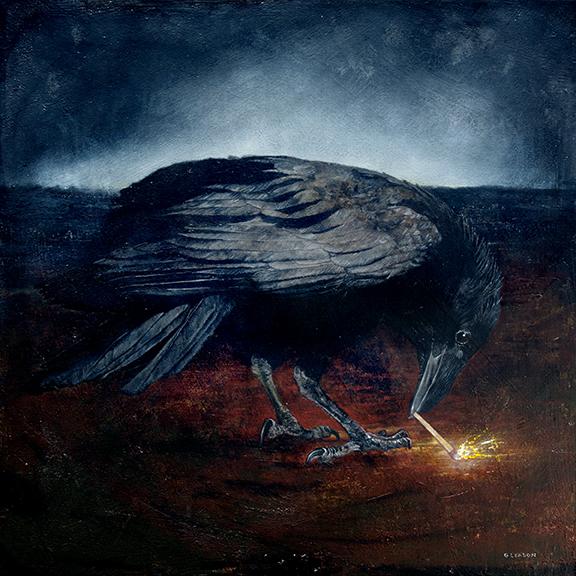 """Mark Gleason - Tulugaq Oil on canvas, 24x24"""" framed, $2,000"""