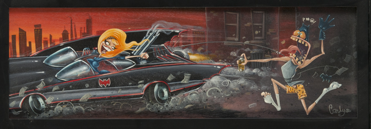 Candy - Serena's Revenge Acrylic on illustration board, 8x24 in. $600