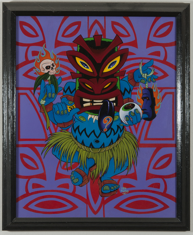 Alan Forbes - Tripping Tiki Acrylic on canvas, 16x20 in. $1200