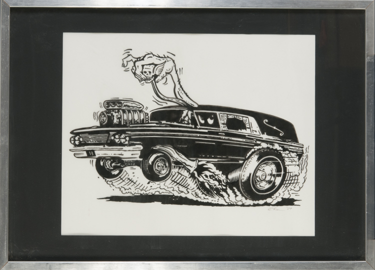 Kruse - Hearse Ink on paper, 16x20 in. $350