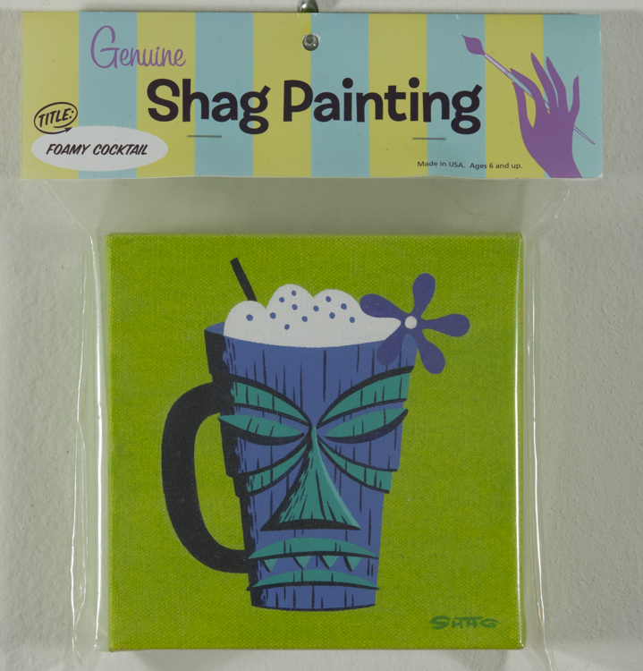 Shag - Foamy Cocktail Cel vinyl on canvas, 6x6 in. $1200